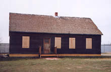 The House, shortly after it was moved in from Rhineland in 1992